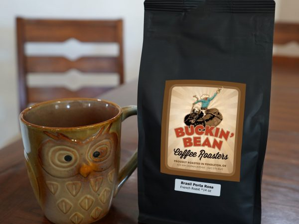 Brasil porto 14 ounce bag with owl shaped coffee mug