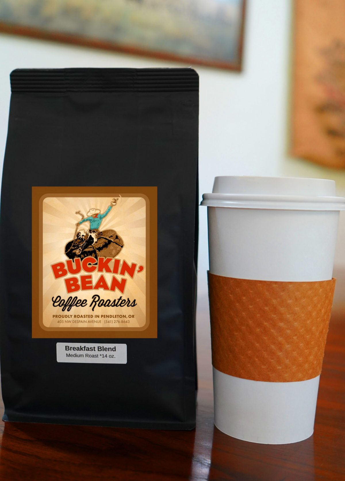 breakfast blend 14 ounce with to go cup