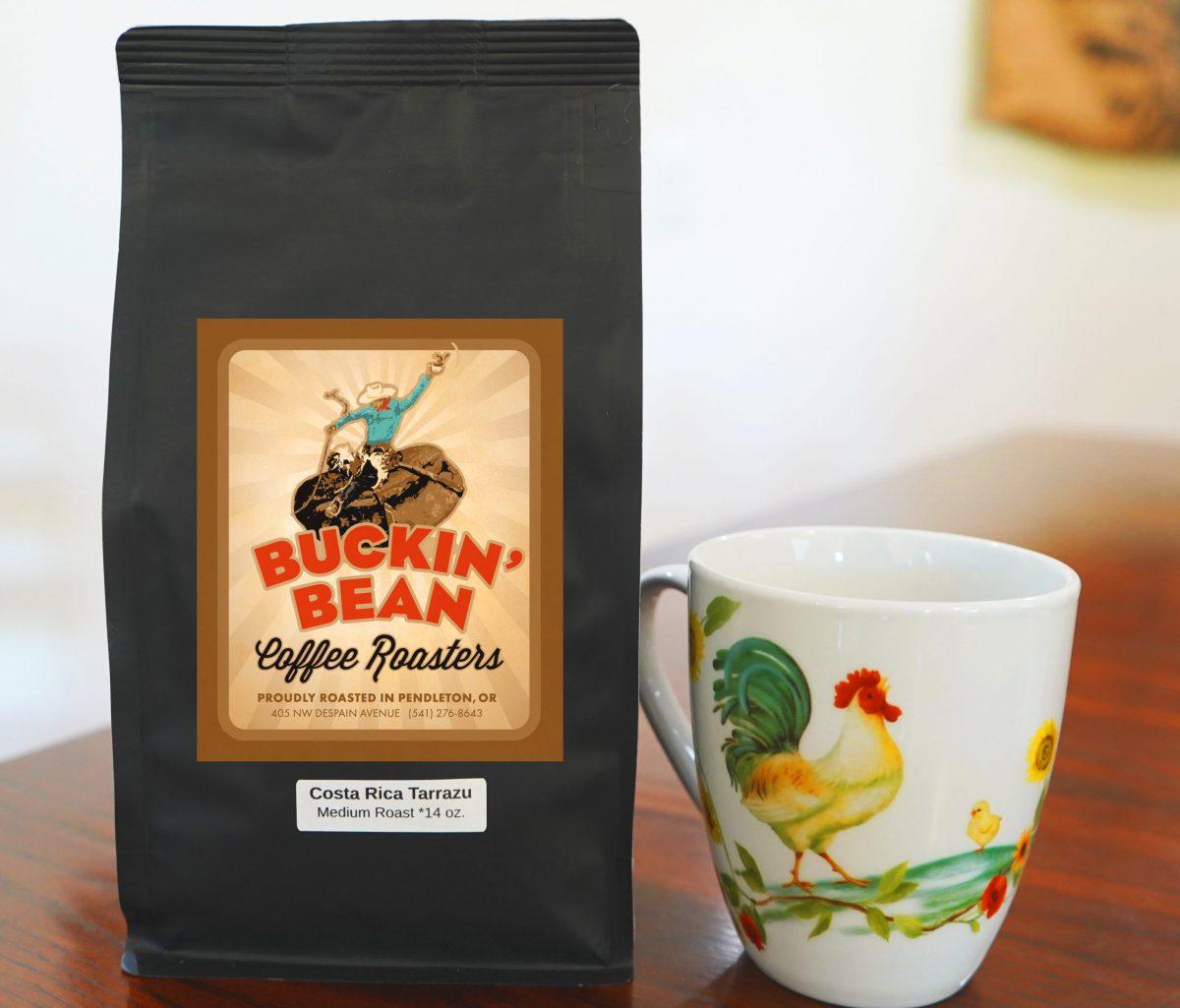 Costa Rican Coffee bag with coffee mug