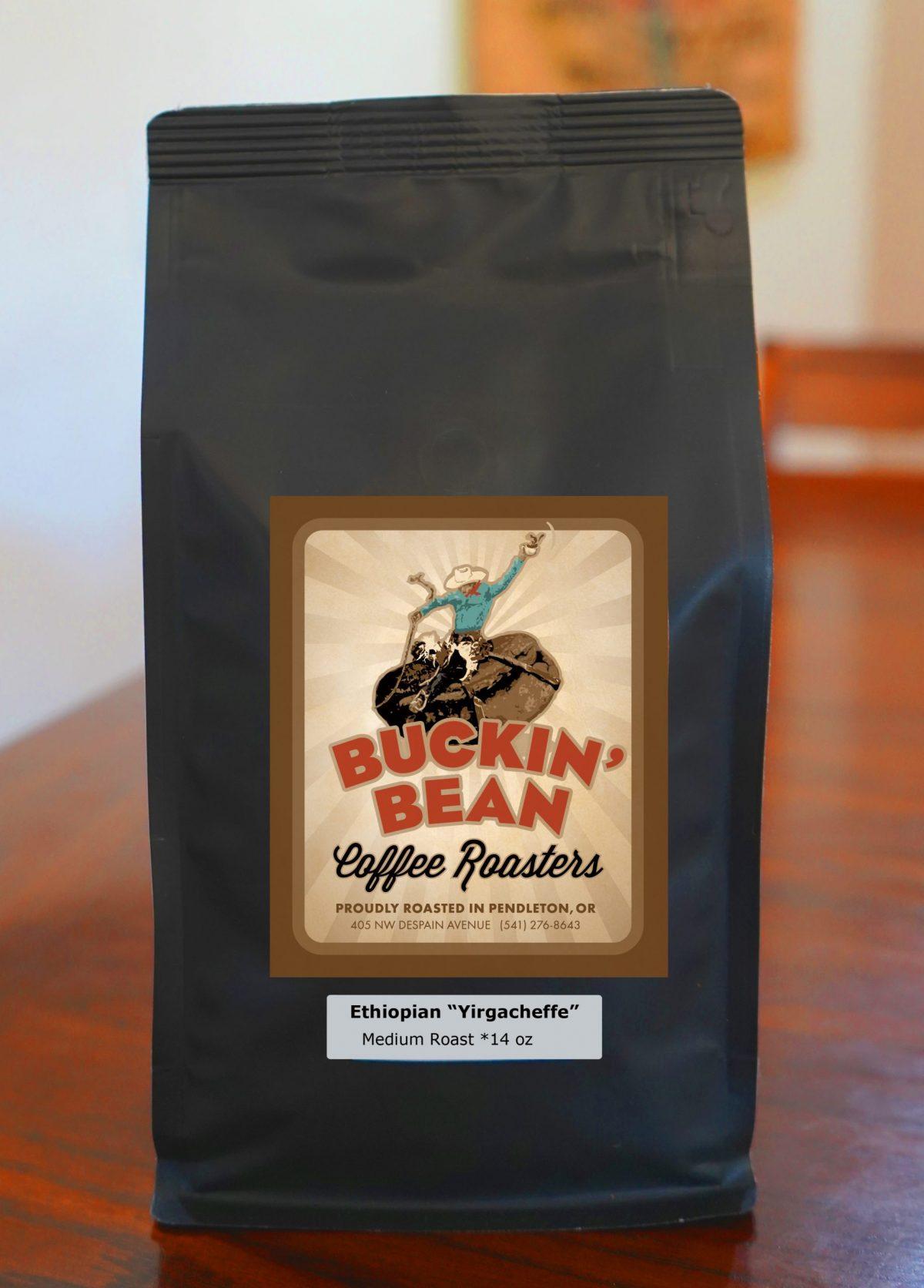 14 ounce bag of Ethiopian yirgacheffe medium coffee coffee